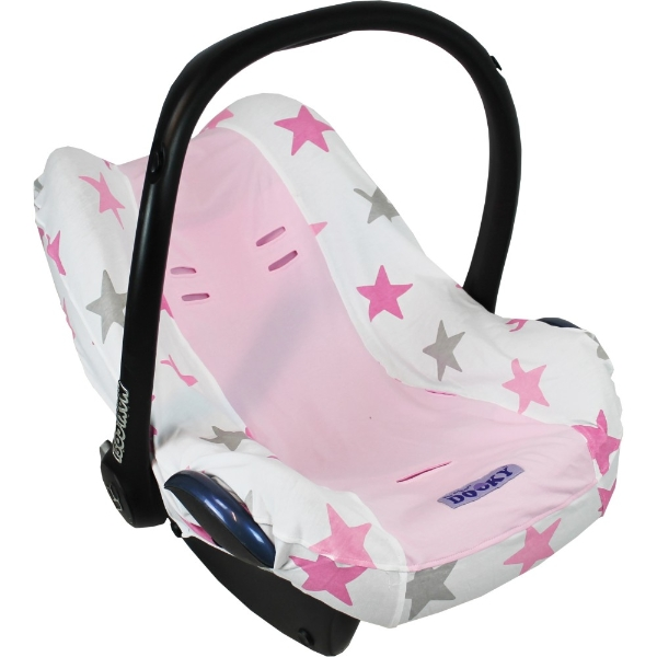Dooky Infant Car Seat Cover 0 Silver Stars