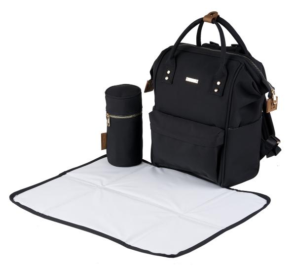 Obaby Changing Bag Messenger Nappy Bag with Mat RRP £24.99 Black